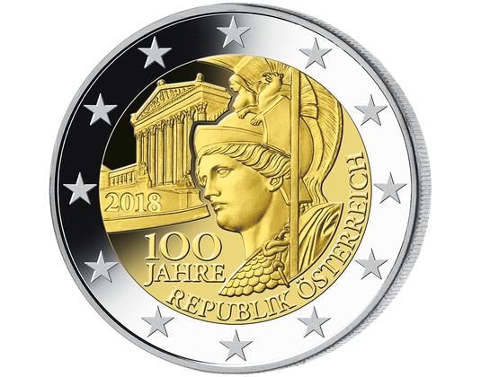 100 Jahre Republik österreich 2 Euro Gedenkmünzen Europa Imm