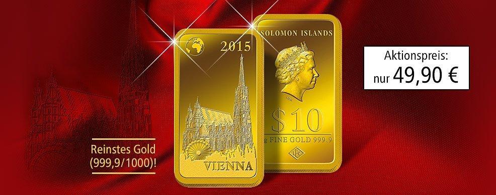 Die Einzige Offizielle Barren Münze Stephansdom Aus Reinstem