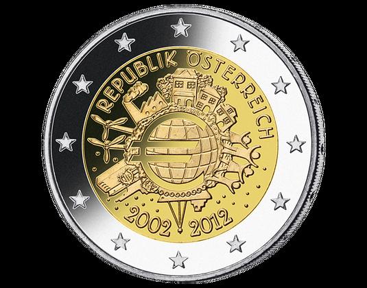 10 Jahre Euro Bargeld Imm Münz Institut