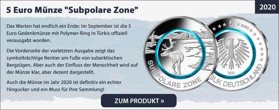 5 Euro Münze Subpolare Zone