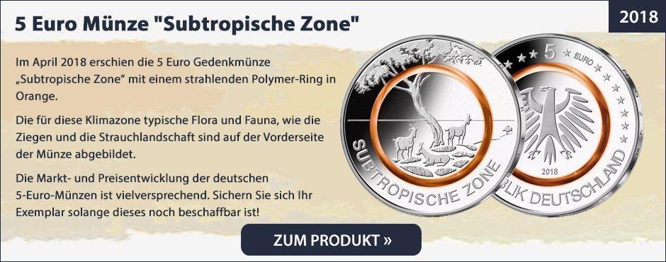 5 Euro Münze Subtropische Zone