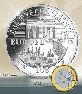 Die Silber Riesenunzen Serie Die 5 Kontinente Mdm Deutsche Münze