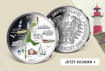 Deutsche Inseln in echtem Silber