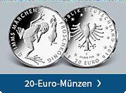 20-Euro-Silbermünzen
