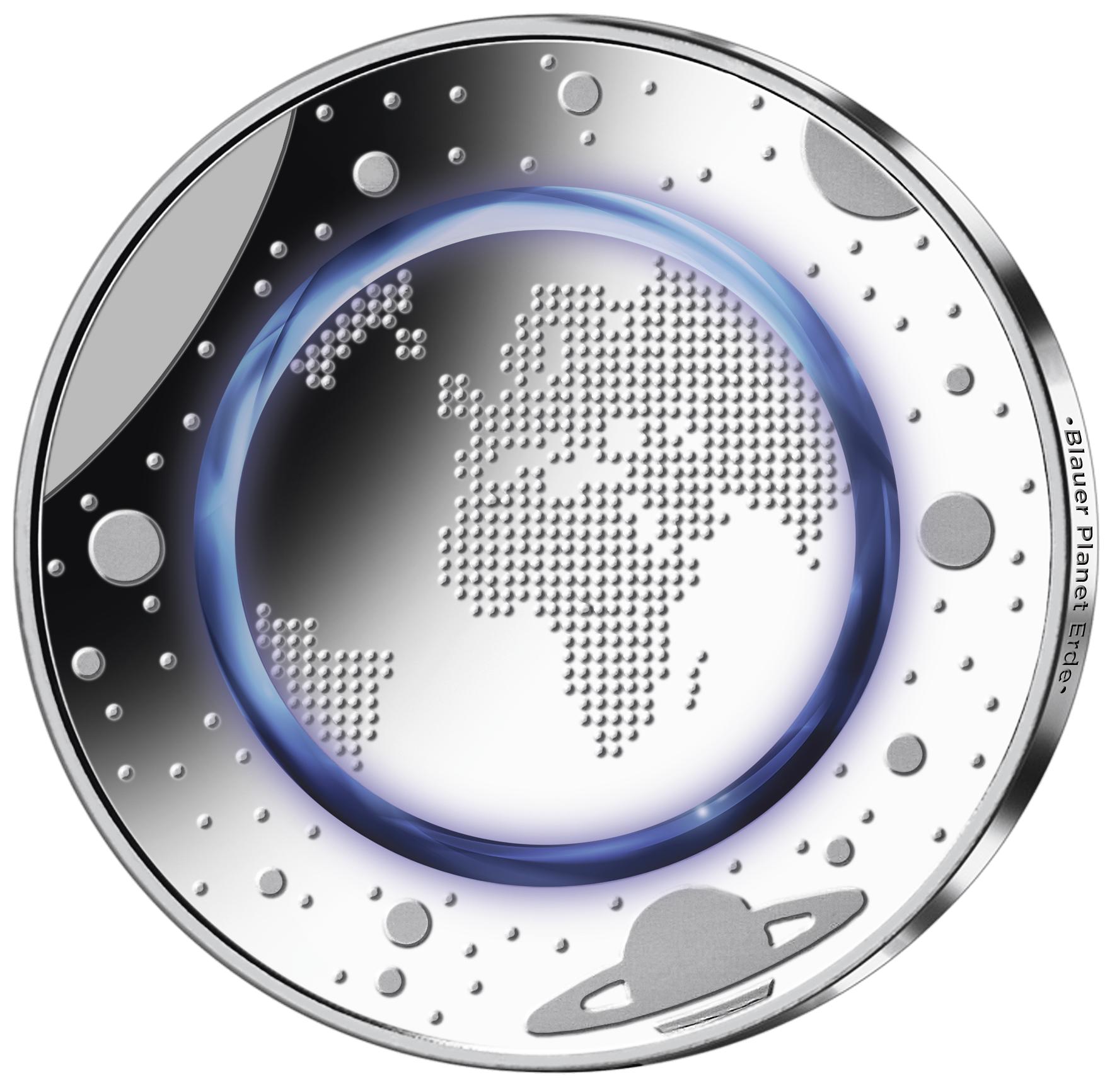 5 Euro Münze Deutschland Blauer Planet 2016 Pp Münzen Günstigerde
