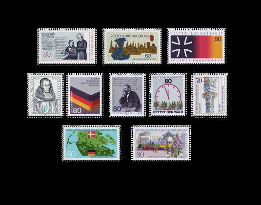 Briefmarken Jahrgang Deutschland 1985 Postfrisch Oder Gestempelt
