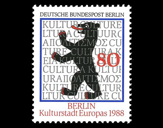Briefmarke Berlin Kulturhauptstadt Europas Borekde