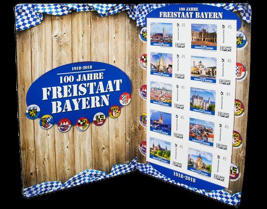 Kleinbogen 100 Jahre Freistaat Bayern Borekde