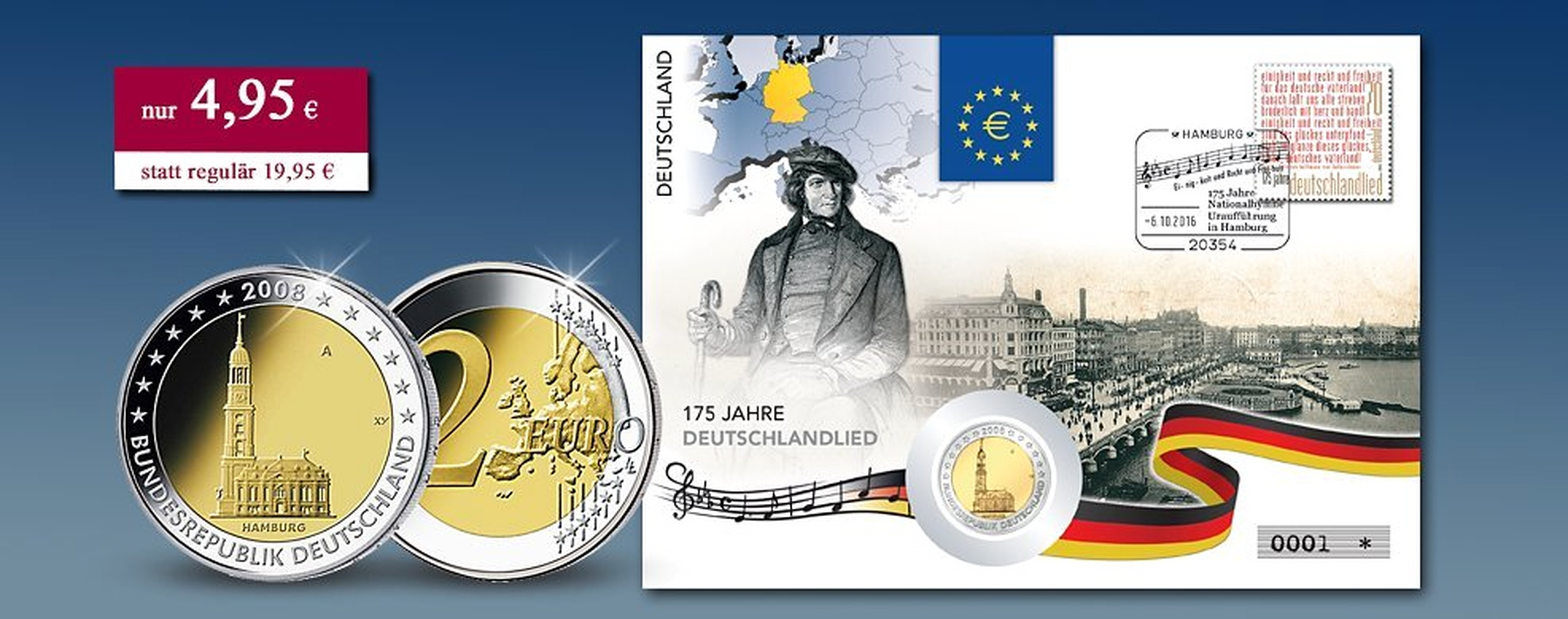 Der Neueste 2 Euro Numisbrief Zum Jubiläum 175 Jahre