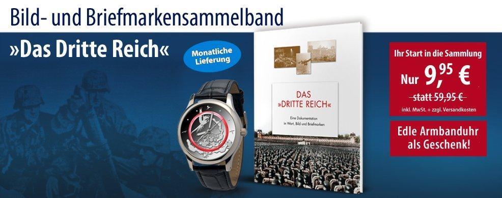 MDM - Briefmarkenbuch »Das Dritte Reich« inkl. edler Armbanduhr »Blauer Planet«