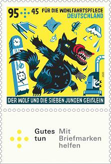Briefmarke Der Wolf und die sieben Geißlein