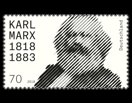 Briefmarke 200 Geburtstag Karl Marx Borekde