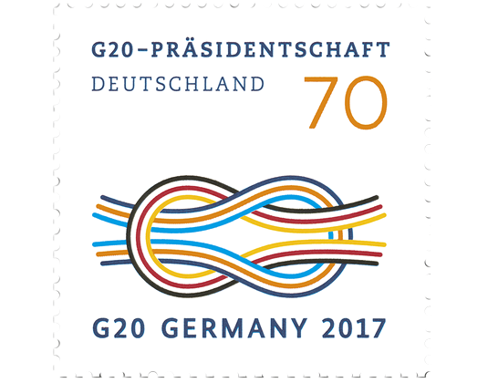 briefmarke g20 pr sidentschaft deutschland. Black Bedroom Furniture Sets. Home Design Ideas