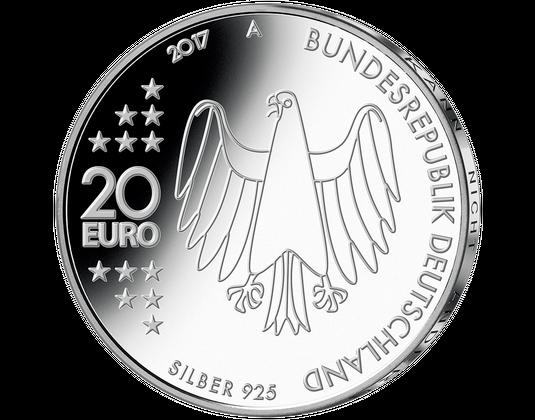 5x20 Silber Gedenkmünzen 2017 Mdm Deutsche Münze