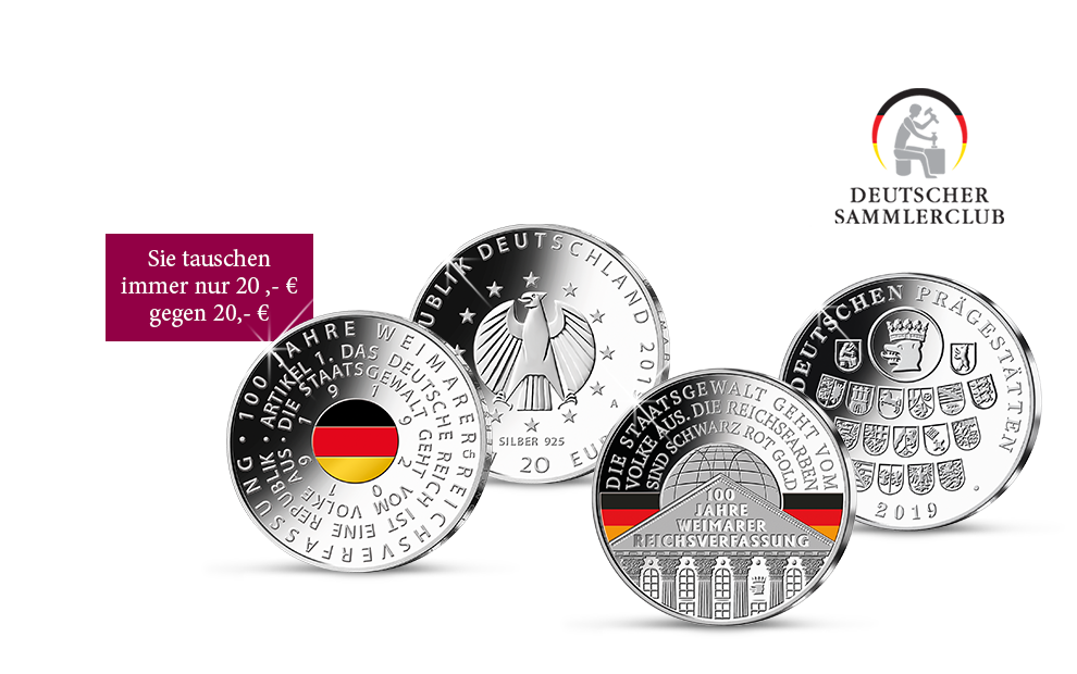 """Die neue 20-Euro-Gedenkmünze und Sonderprägung """"Reichsverfassung"""""""