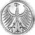 5 D-Mark Rückseite Silberadler