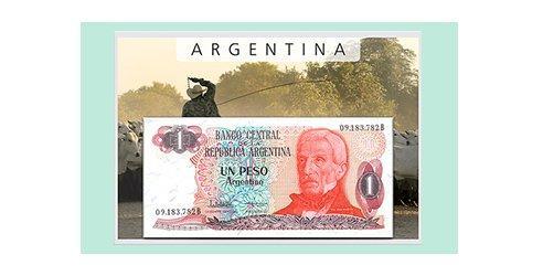 Argentinien: Seltener Banknotensatz Set 7
