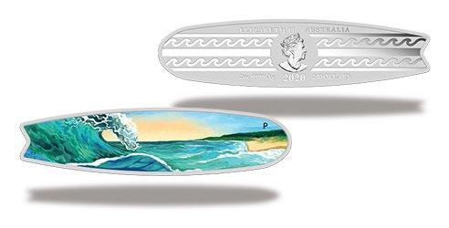 Australien 2020 Silber-Gedenkmünze 'Surfboard'