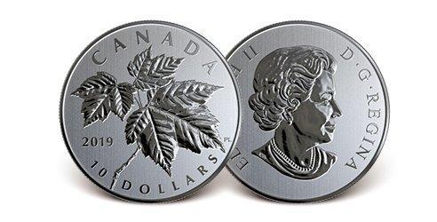 Kanada 2019 Silber-Gedenkmünze 'Maple Leaves''