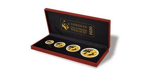 China ''Gold-Panda Set'' Gedenkmünzen 2020