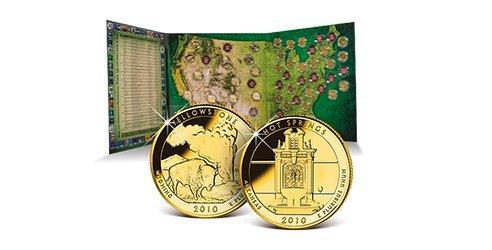 2 Ausgaben zum Preis von 1 – Start in die offizielle USA National Park Quarter-Dollars Kollektion