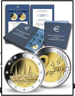 BLOCKED 2-Euro-Gedenkmünze Lettland