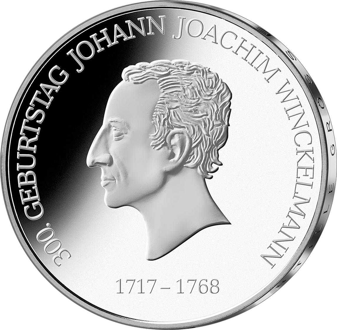 20 Euro Silber Münze Brd 2017 Johann J Winckelmann St Münzen