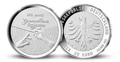 20 Euro Silbermünze 275 Jahre Gewandhaus
