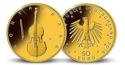 50 Euro Goldmünze Kontrabass