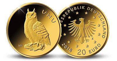 20 Euro Goldmünze Uhu