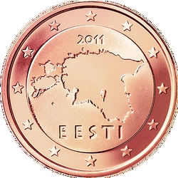2 Euro-cent Estland Motivseite