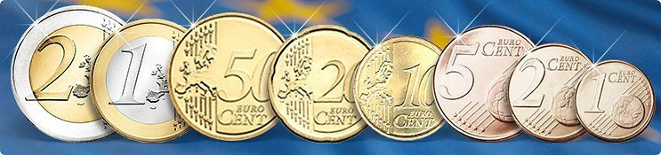 Übersicht Euromünzen Vorderseiten