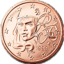 1 Euro-cent Frankreich Motivseite