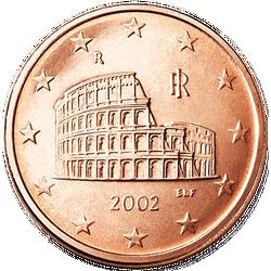 Rückseite 5 Eurocent Italien