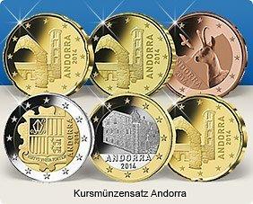 Kursmünzensatz Andorra