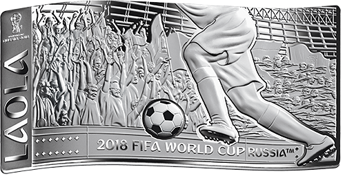 2018 FIFA World Cup Russia™ LAOLA Wave-Shaped 3oz Silver Coin Bar