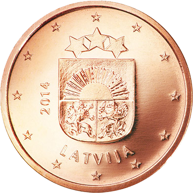 5 Euro-Cent Lettland Motivseite