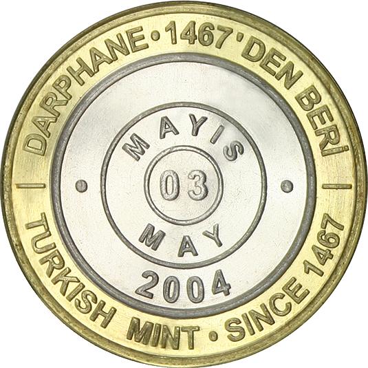 Türkei 1 Million Lira Die Einizge Münze Mit Tagesaktuellem Datum