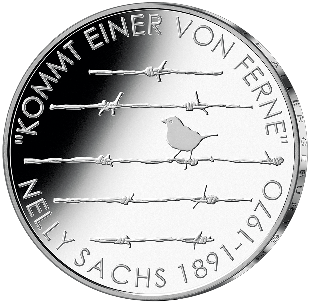20 Euro Silber Münze Nelly Sachs 2016 PP