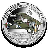 Sopwith Camel silver coin