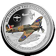 Hawker Hurricane silver coin