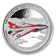English Electric Lightning silver coin