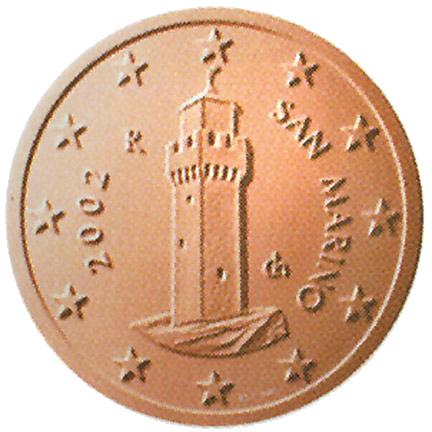 1 Euro-Cent San Marino Motivseite