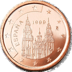 1 Euro-Cent Spanien Motivseite