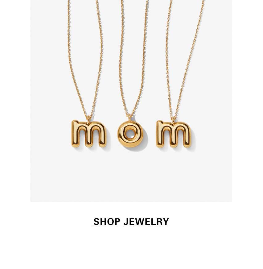 fa76f57d5b629 Mom Letter Necklaces