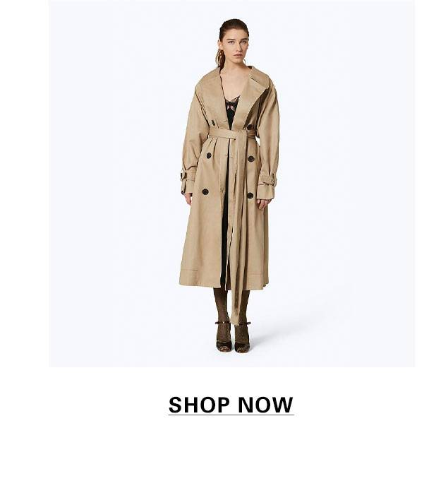 74e9eb1a5a3 Beige Oversized Cotton Trench Coat