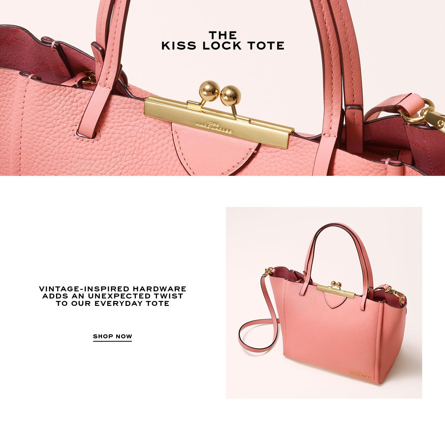 The Kiss Lock Tote, Vintage-inspired hardware adds an unexpected twist to our everyday tote. Shop Now.