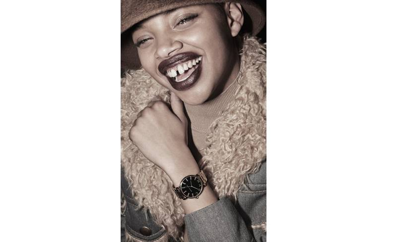 Slick Woods Wears Our MJ Classic Rainbow Watch