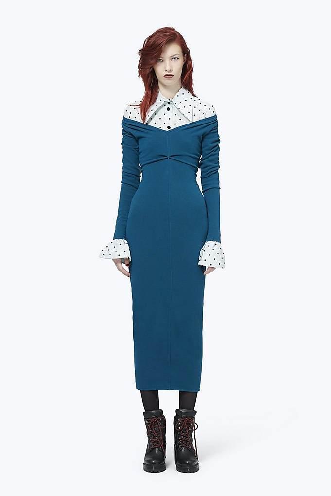 V-Neck Tube Dress