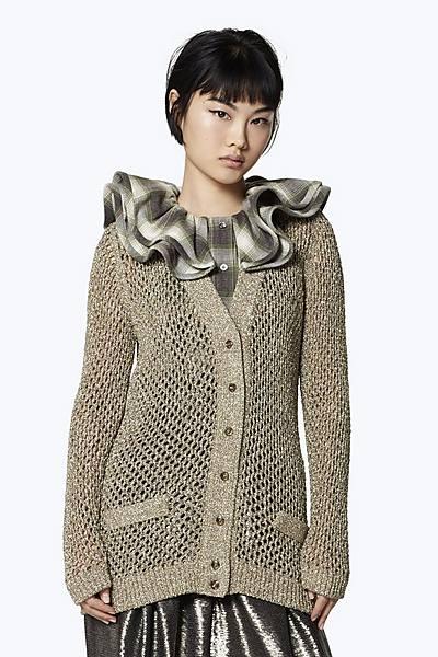 98f85a07f364 Metallic Wool-Blend Cardigan ...